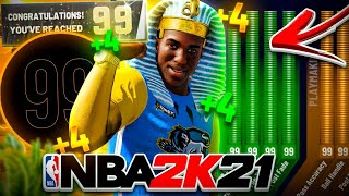 I HIT 99 OVERALL IN NBA 2K21! BEST BUILD UNLOCKS +4 ATTRIBUTE BOOSTS & 99 ANIMATION! PLAYER COMPLETE