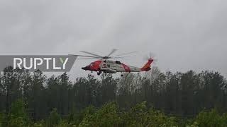 USA: Helicopter evacuates locals amid deadly Hurricane Florence