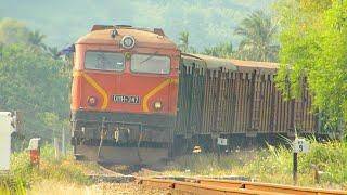 (Freight trains in Vietnam 2019) - Đoàn tàu hỏa chở hàng thật đẹp - Tàu lửa Việt nam