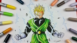 Drawing Adult GOHAN Super Saiyan 2 | TolgArt