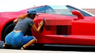 someone spray painted my car...