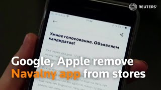 Google, Apple remove Navalny app from stores