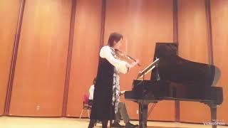 Megumi Matsumoto Violin 🎻 Violin Sonata No.1 by Gabriel Faure 3rd movement 💐 December.9 2018