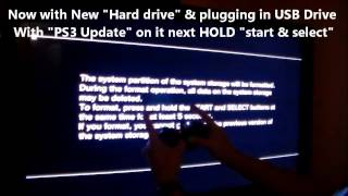 HOW TO FIX PS3 - NEW HARD DRIVE & UPDATE INSTALL