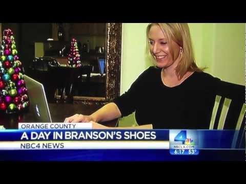 Shannon Smith on NBC Los Angeles news with Sir @RichardBranson's shoes
