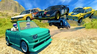 HIGH SPEED OFF ROAD RALLY CRASHES AND SAVES! - BeamNG Drive Crash Test Compilation Gameplay