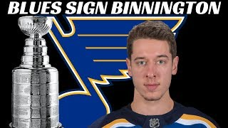 St Louis Blues Sign Jordan Binnington