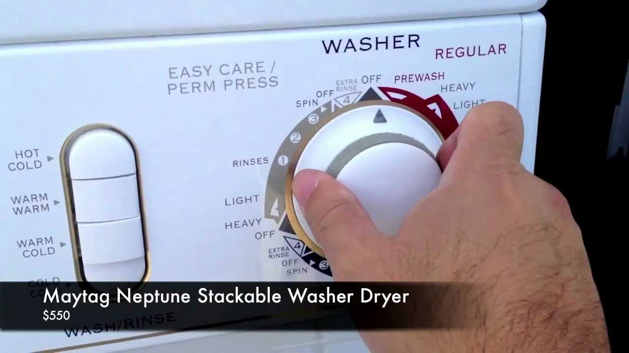 Maytag Neptune Stackable Washer Dryer Youtube