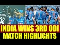 India defeats New Zealand by 6 runs in the 3rd ODI, clinch series 2-1