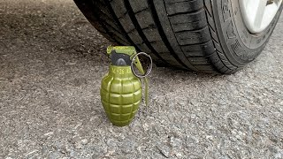 Experiment Car vs Grenade | Crushing crunchy & soft things by car | Test Ex