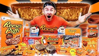 THE REESES OVERLOAD CHALLENGE! (18,000+ CALORIES)