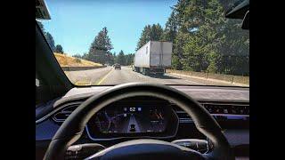 Tesla Autopilot V9 42.2 STOPPED AT A RED LIGHT?