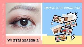 TRYING VT BT21 SEASON 2   THỬ PHẤN MẮT TỪ NHÀ VT COSMETICS PHẦN 2   Chanchan eyemakeup