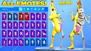 *NEW* PEELY BONE SKIN Showcase with All Fortnite Dances & Emotes! (Free Emote)