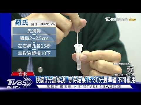 快篩試劑操作影片實錄!3分鐘KO 「結果不能等太久」|TVBS新聞