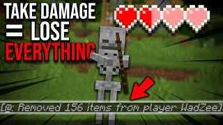 Minecraft, But If I Take Damage I Lose ALL My Items