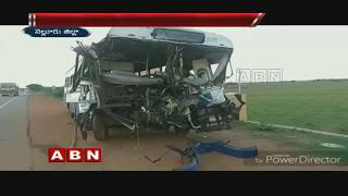 20 injured as RTC bus rams into lorry in Nellore dist..