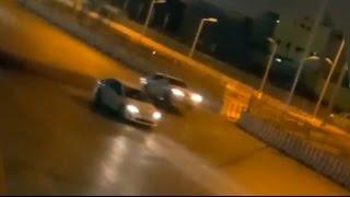 مطب في السعودية يجعل السيارات تطير ويتسبب في حوادث مرورية     -