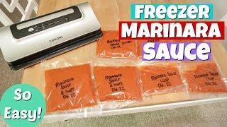 Freezer Cooking | Homemade Marinara Sauce | Cosori Food Sealer