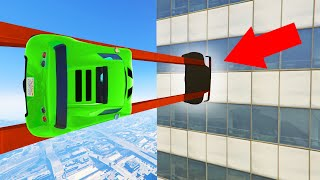 1% Chance To Fit THROUGH The GAP! (GTA 5 Funny Moments)