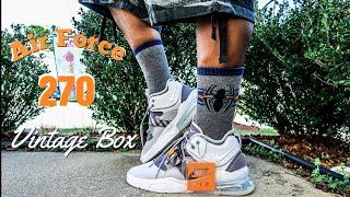 Nike Gris Air Force 270 Lobo Gris Nike Recoger Examen Épico A Pie 048286