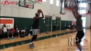 Andre Drummond shows off improved jump shot in in Remy Workouts pick-up games