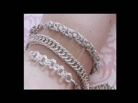 Silver Bracelets Chainmail Youtube