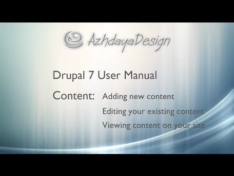 How to edit, find and add new content in Drupal 7