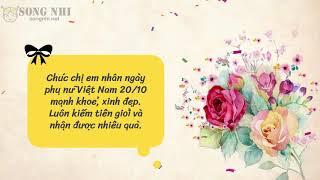 Lời chúc 20/10 hay và ý nghĩa nhất dành cho phụ nữ Việt Nam