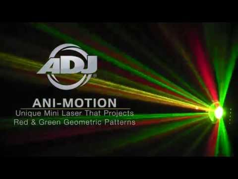 American DJ Ani-Motion Compact Red & Green Geometric Pattern Laser
