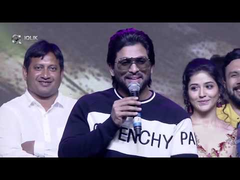 Allu Arjun Full Speech | Taxiwala Pre Release Event