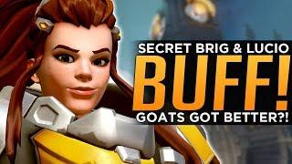 Overwatch: Secret Brigitte & Lucio BUFF! - GOATS Got BETTER?!