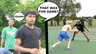 I Hit 3 Game Winners IN A ROW! 5v5 Basketball At The Park!