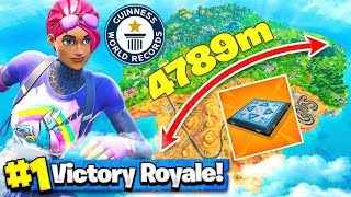 *LONGEST* BOUNCE PAD JUMP in FORTNITE (World Record)
