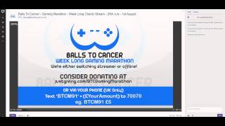 Ball to Cancer 24/7 Gaming Charity Livestream!