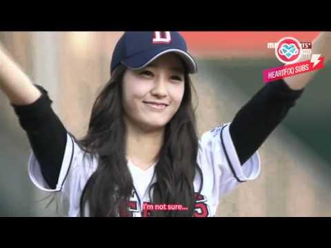 [HeartfxSubs] 120619 MBC Sports Doosan Bears Opening Pitch - f(x) Krystal (en)