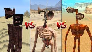 MINECRAFT SIREN HEAD VS GTA 5 SIREN HEAD VS GTA SAN ANDREAS SIREN HEAD - WHO IS BEST?