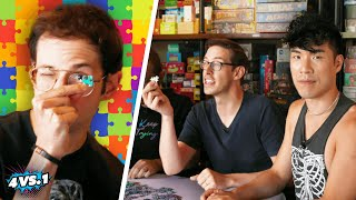 Can 4 Guys Beat A Puzzle Master?!