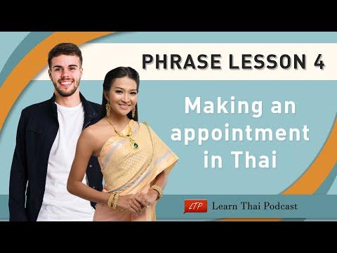 Thai Language Phrases Lesson : Time