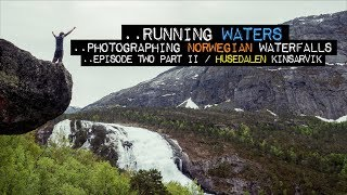 Solar pillar in Husedalen Valley (exploring the four waterfalls) || Landscape Photography Norway