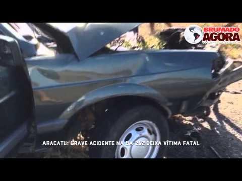 Aracatu: Grave acidente na BA-262 deixa vítima fatal