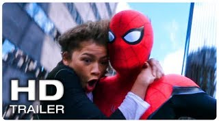 SPIDER MAN FAR FROM HOME Spider Man & MJ Swinging Scene Trailer (NEW 2019) Superhero Movie HD