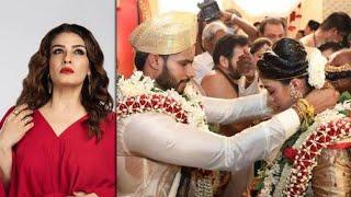 Actress Raveena Tandon slams Nikhil Kumaraswamy's wedding ..