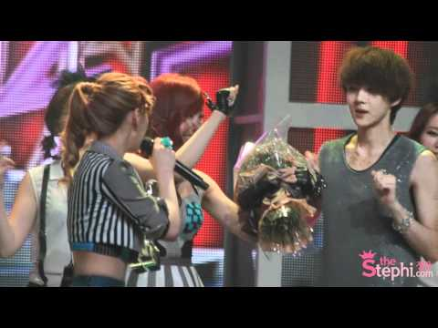 120525 music bank twinkle 1위 앵콜 tiffany fancam