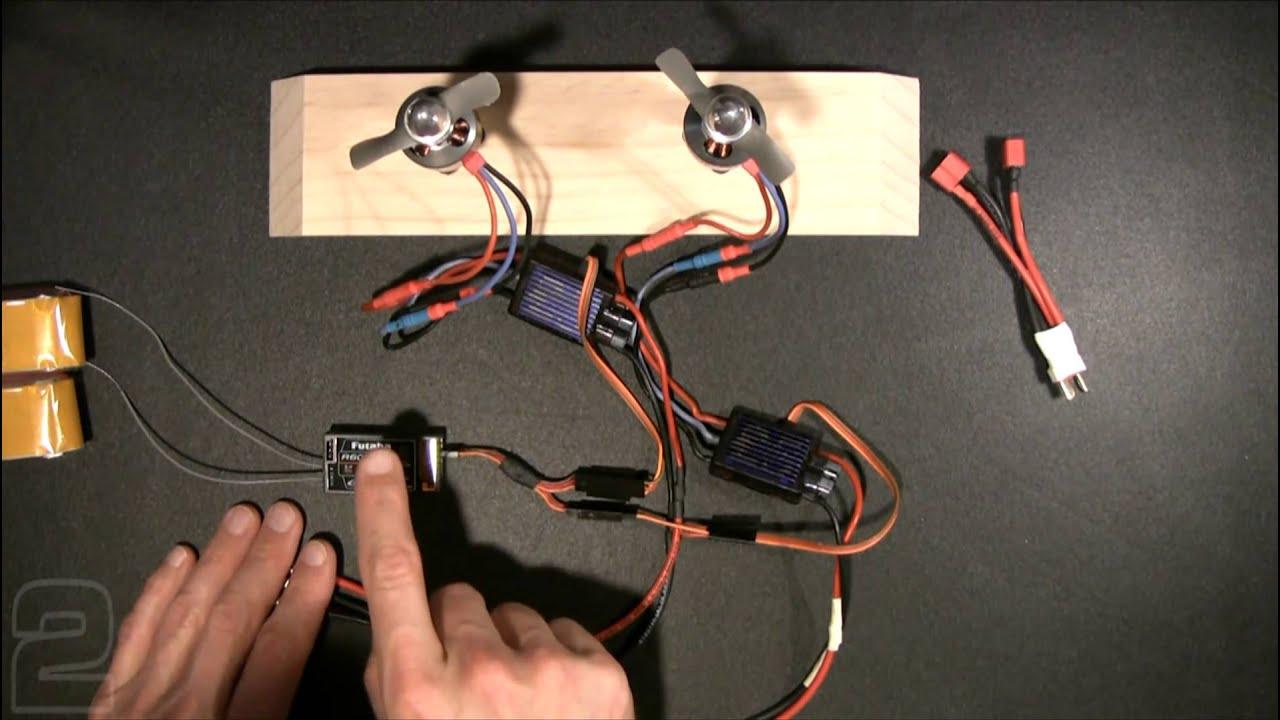 multi engine esc wiring youtube. Black Bedroom Furniture Sets. Home Design Ideas
