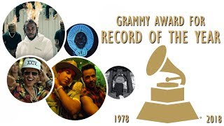 Grammy Award for: Record of the Year (1978-2018)