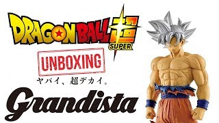 THIS ULTRA INSTINCT GOKU FROM GRANDISTA IS AMAZING!! (Unboxing)