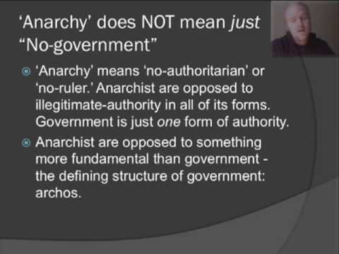 An introduction to the explanation of anarchism