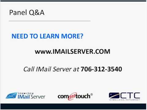 Commtouch and IMail Server: Winning the War on Spam Part 3 of 3