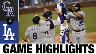 Kemp lifts Rockies with 2-run homer in 8th | Rockies-Dodgers Game Highlights 9/6/20